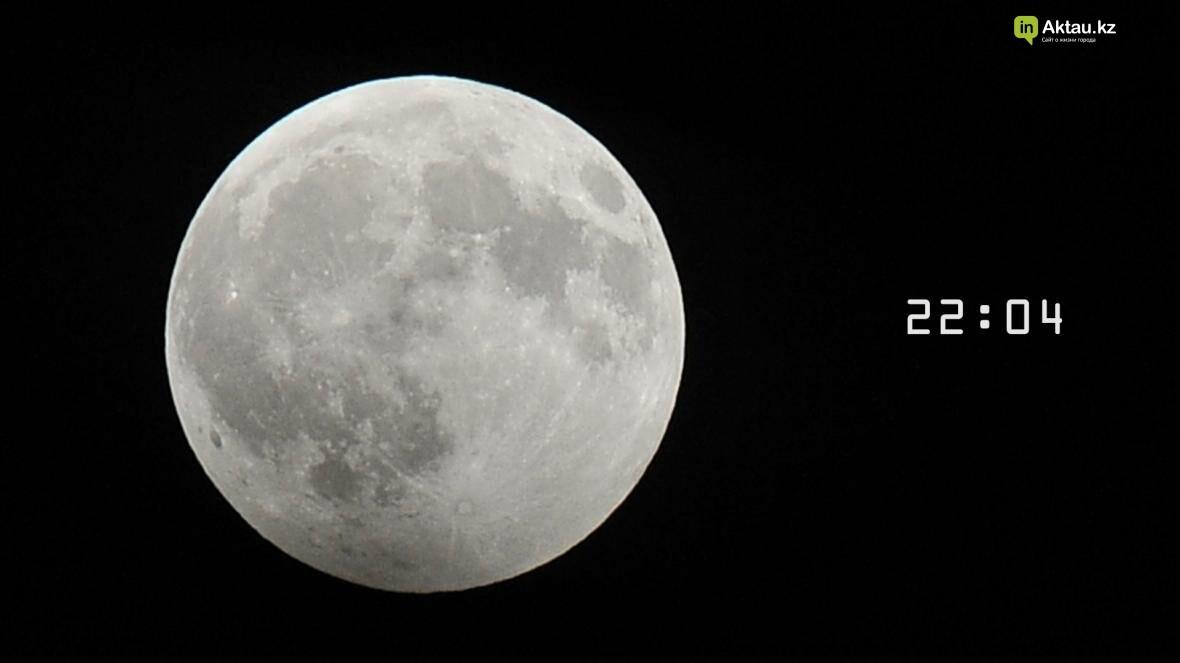 Жители Актау наблюдали лунное затмение (Фото), фото-1