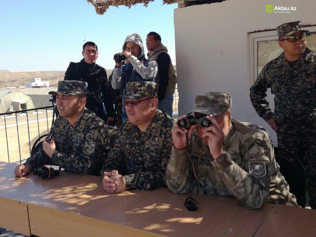 В Актау офицеры Национальной гвардии РК приняли участие в боевом учении, фото-6