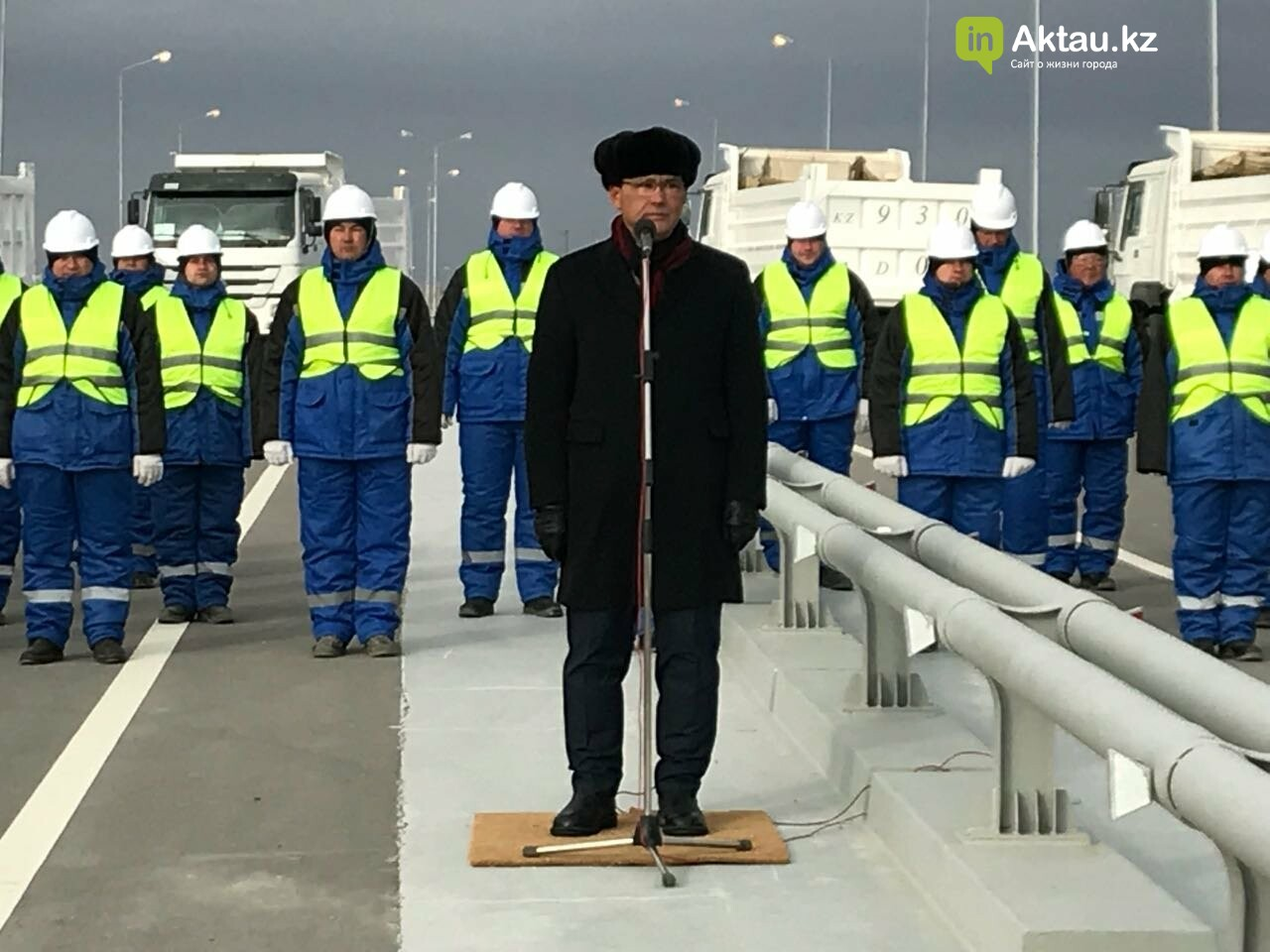 """В Мангистау начаты работы по реконструкции дороги """"Жетыбай-Жанаозен"""", фото-2"""