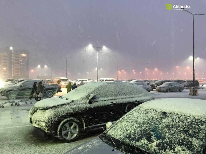Первый снег в Актау (Фото), фото-1