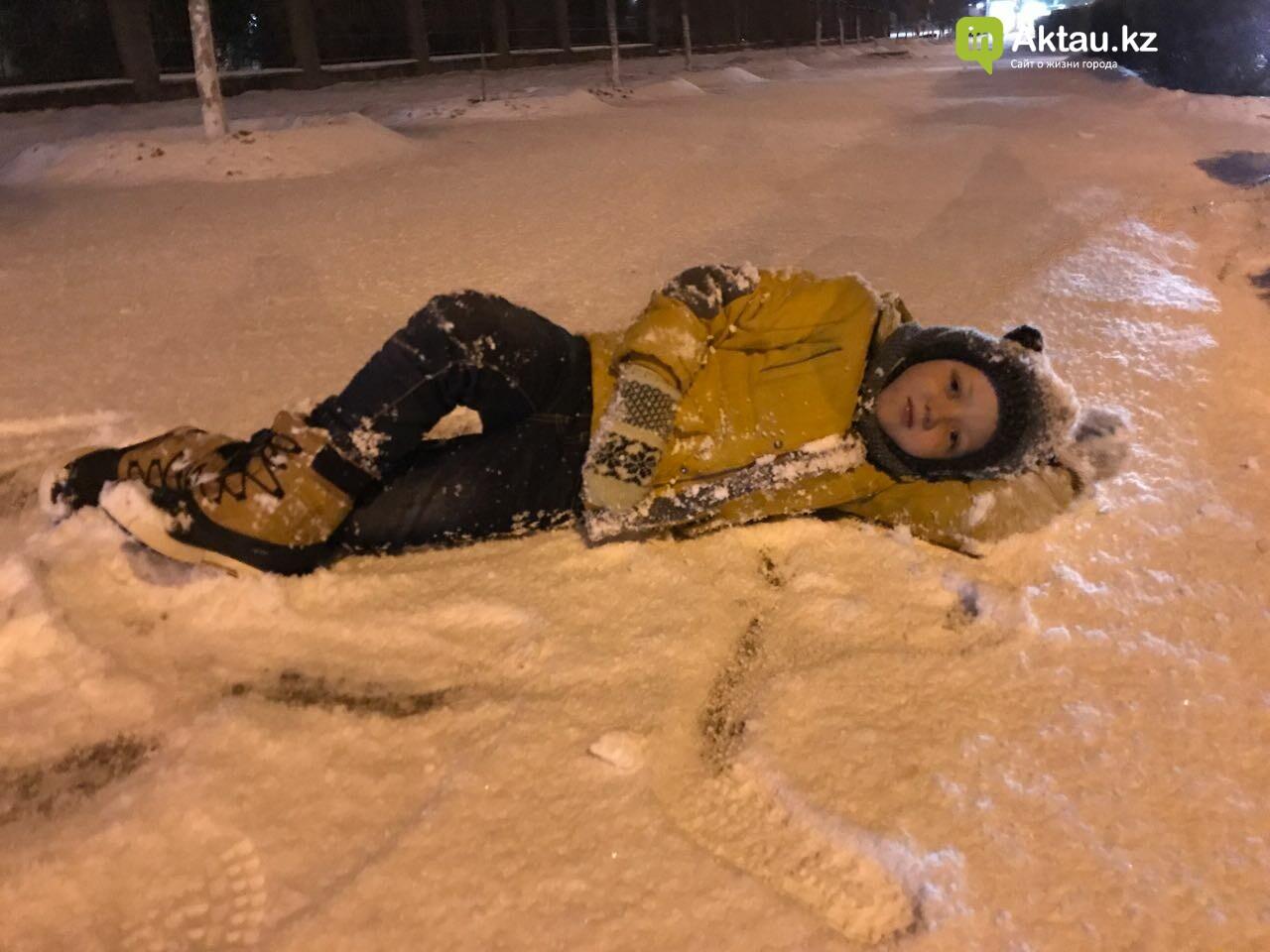 Первый снег в Актау (Фото), фото-3