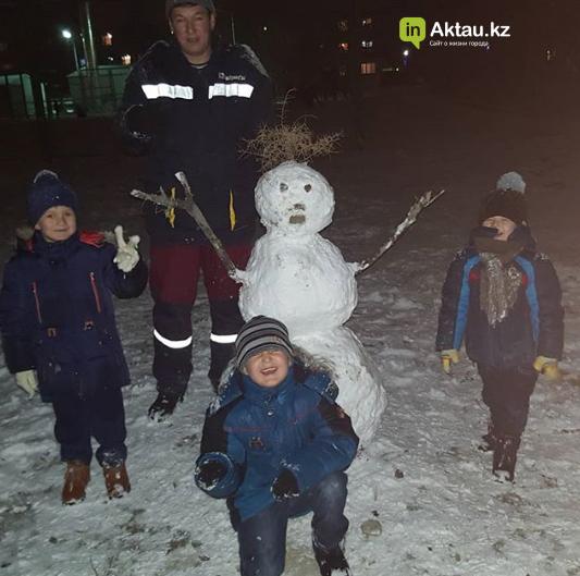 Первый снег в Актау (Фото), фото-12
