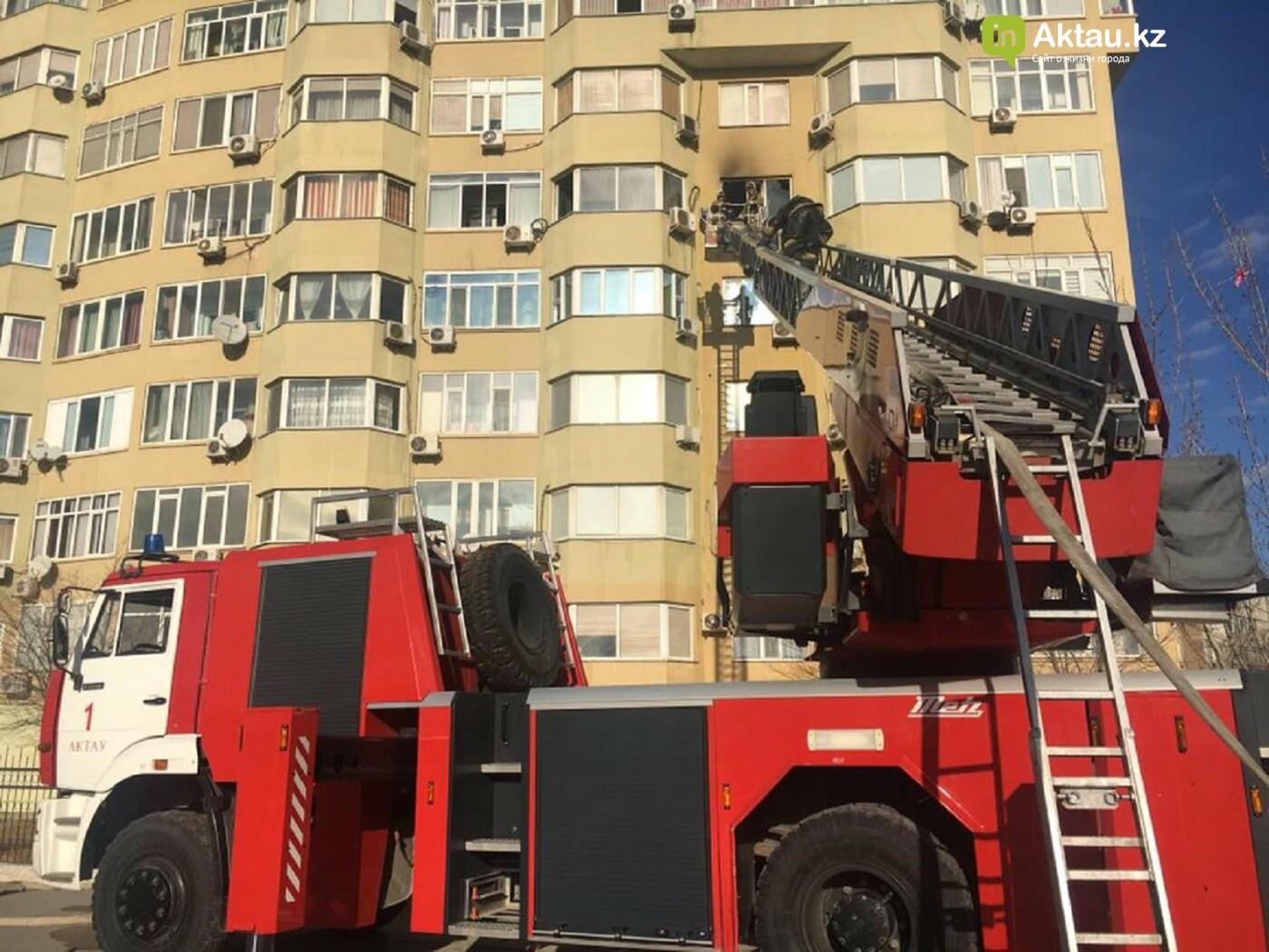 В 13 микрорайоне из-за пожара в квартире эвакуировали 50 жильцов дома, фото-1