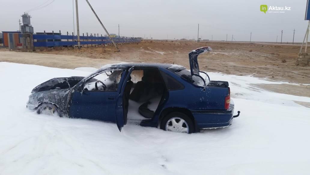 Автомобиль сгорел на станции Боранкул (ВИДЕО), фото-3