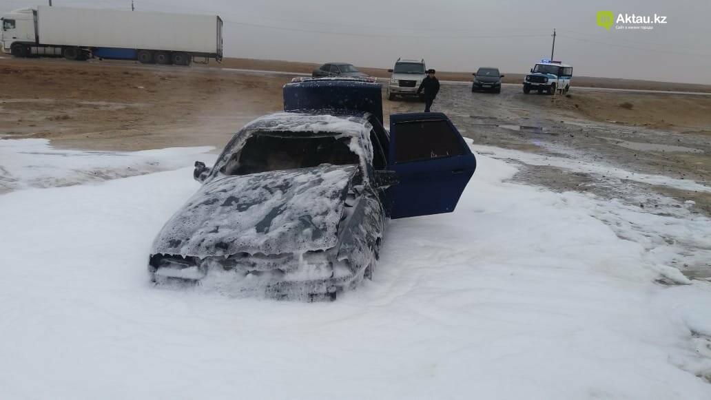 Автомобиль сгорел на станции Боранкул (ВИДЕО), фото-2