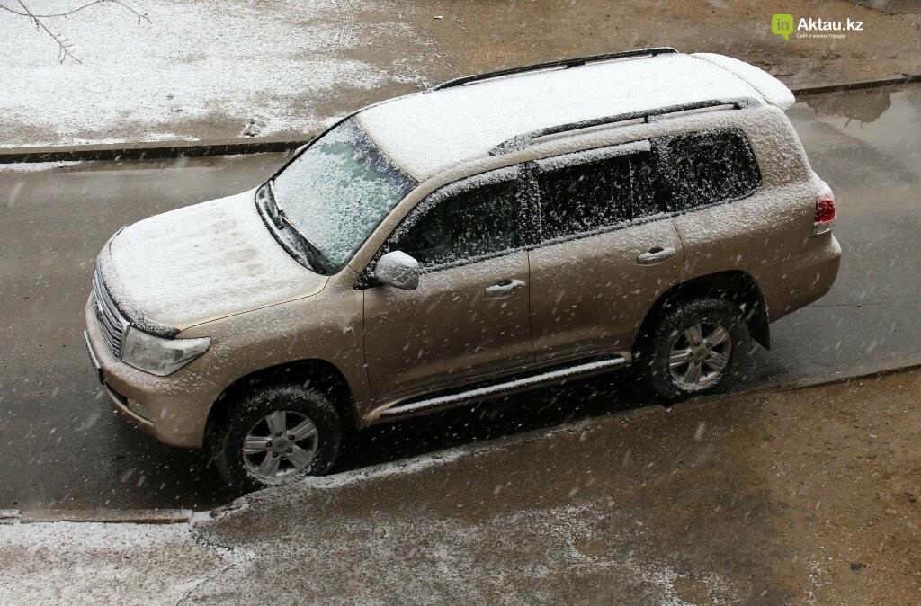 Первый снег в Актау в новом году (ФОТОПОСТ), фото-1