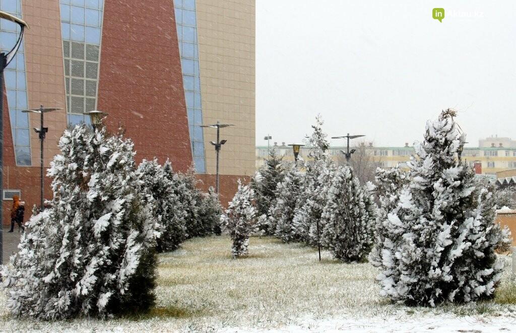 Первый снег в Актау в новом году (ФОТОПОСТ), фото-9