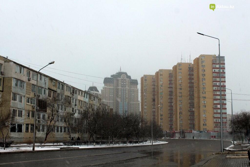 Первый снег в Актау в новом году (ФОТОПОСТ), фото-4