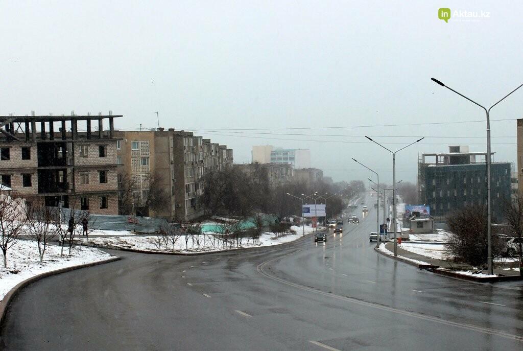 Первый снег в Актау в новом году (ФОТОПОСТ), фото-5