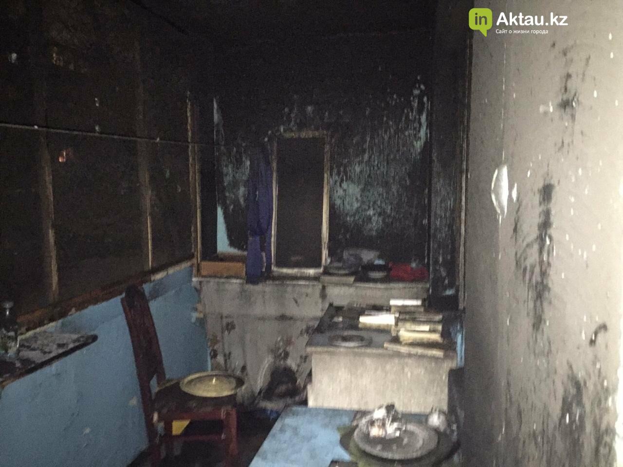 В Актау из-за пожара в квартире пострадал пенсионер, фото-1