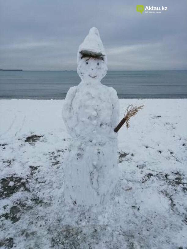 Снеговики и снежные бабы: как актаусцы развлекались 1 января (ФОТО), фото-10