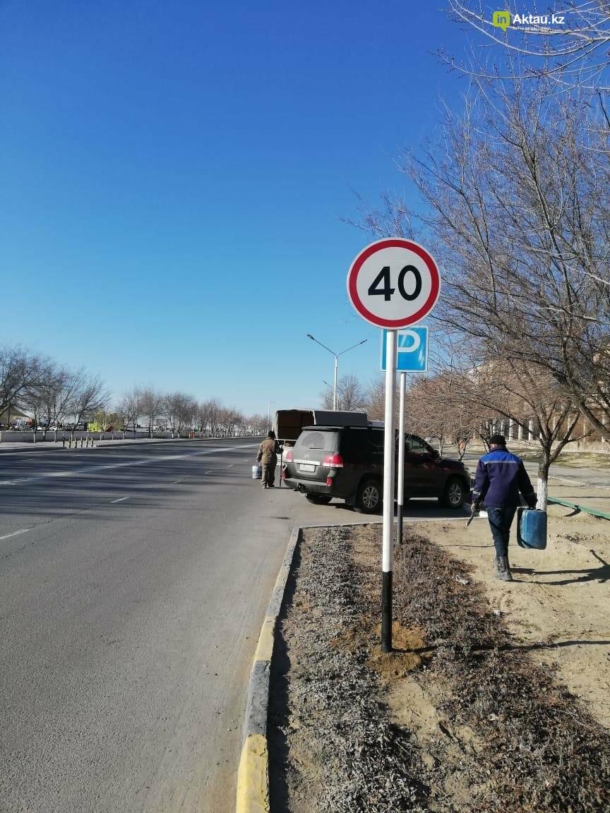 Дополнительные дорожные знаки установили в Актау, фото-3