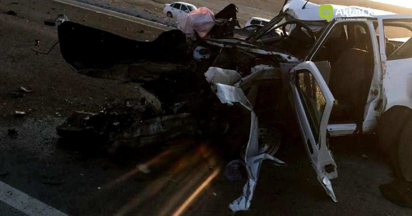 Есть погибшие: страшное ДТП произошло на трассе Шетпе-Жетыбай (ВИДЕО), фото-4