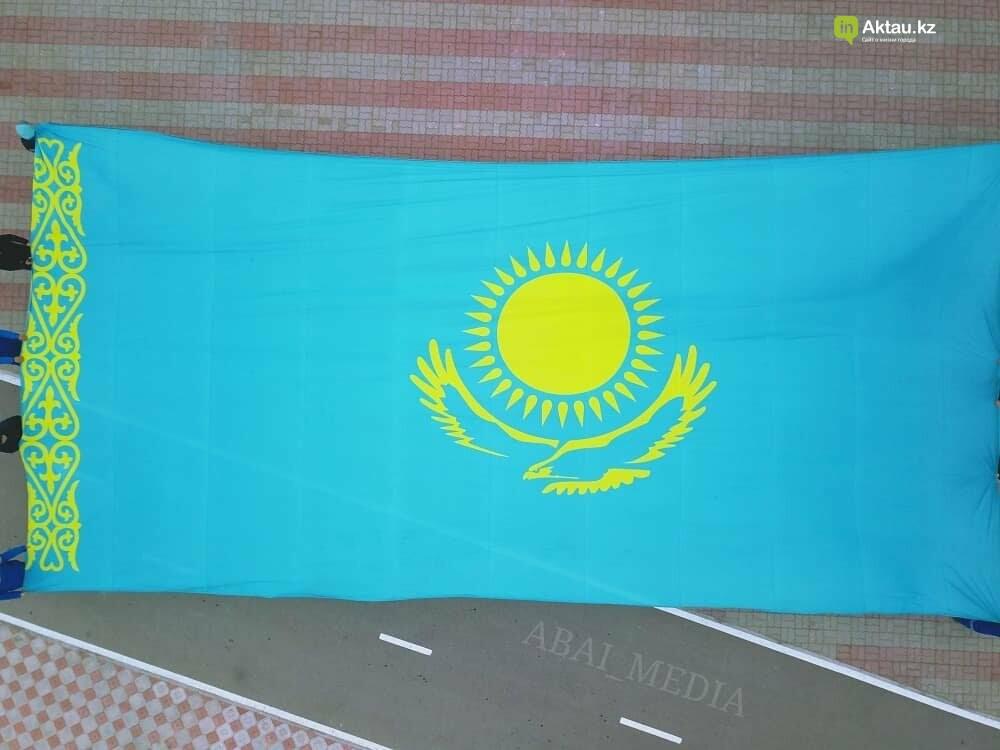 В Актау Президента страны проводили флешмобом (ВИДЕО), фото-2