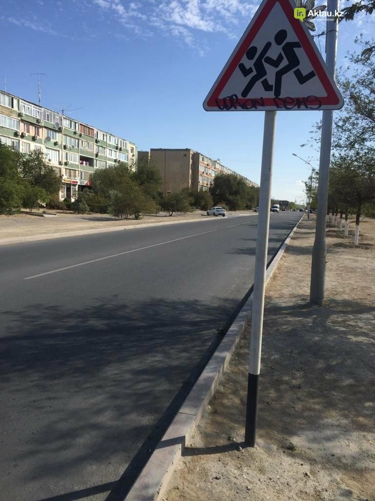 Разрисовавшего дорожные знаки вандала задержала полиция в Актау, фото-3