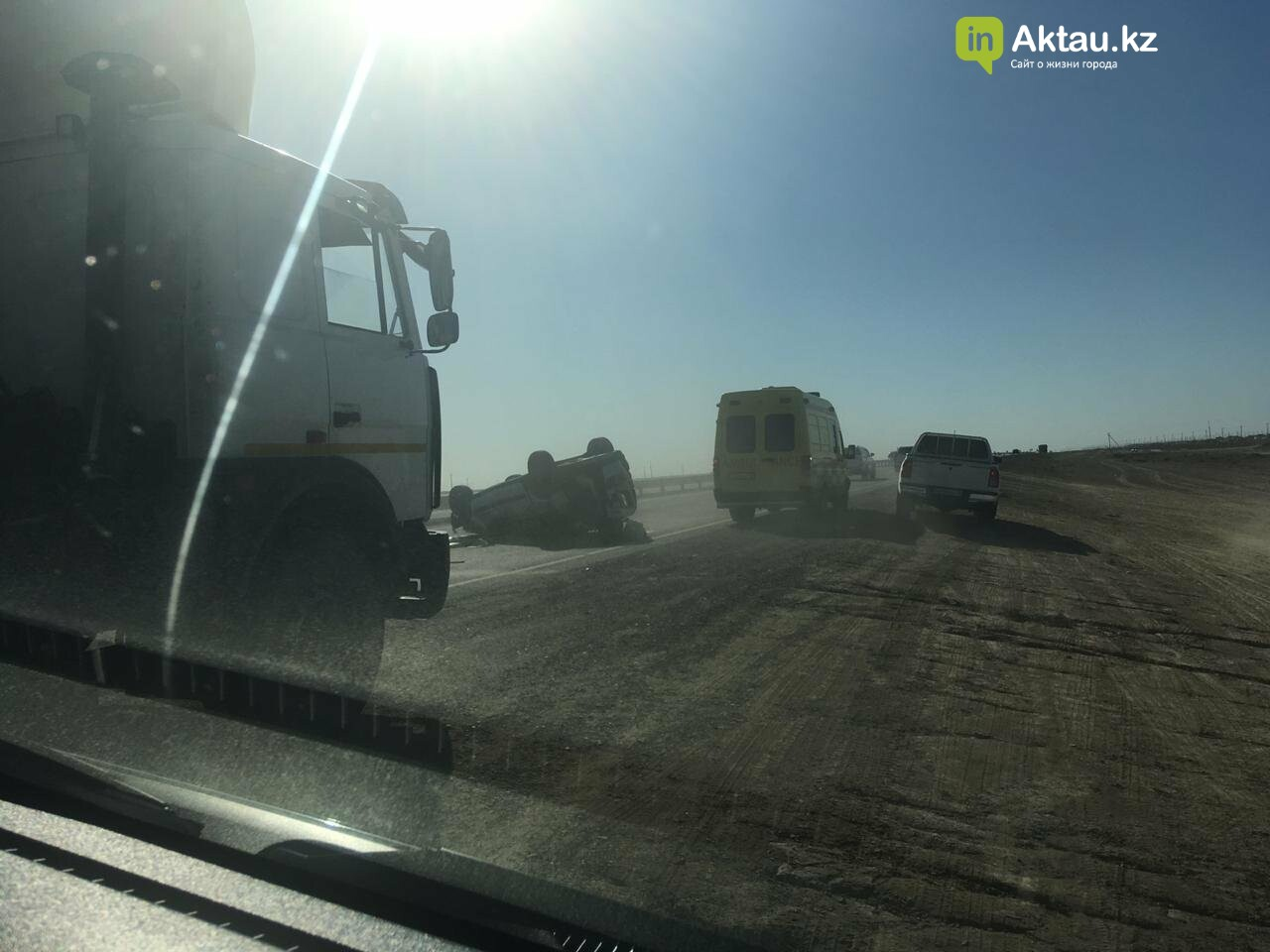 Три человека пострадали в аварии на трассе Актау-Жанаозен, фото-1