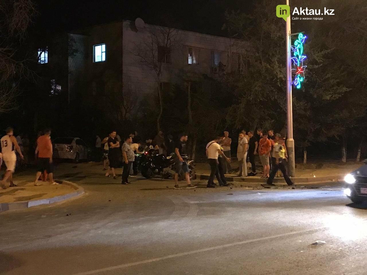 Мотоциклист пострадал в аварии в Актау (ВИДЕО), фото-5