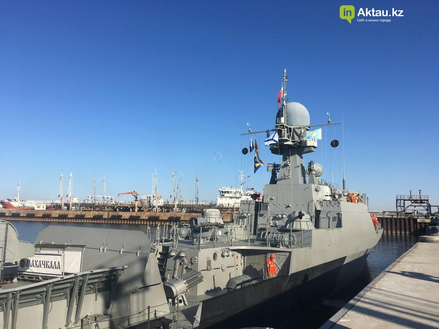"""""""У нас один интерес – Каспий"""": российские корабли прибыли в порт Актау , фото-1"""
