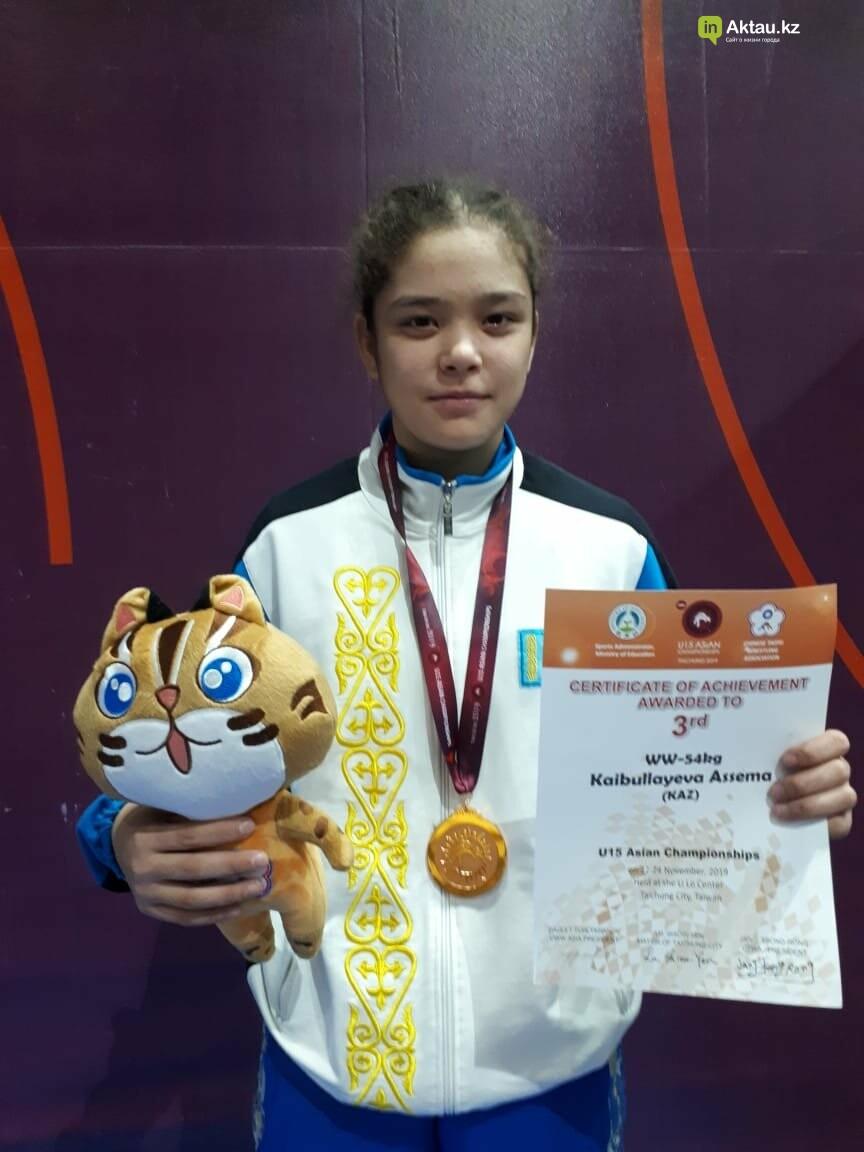 Асема Кайбуллаева из Мангистау стала призером чемпионата Азии по борьбе, фото-1