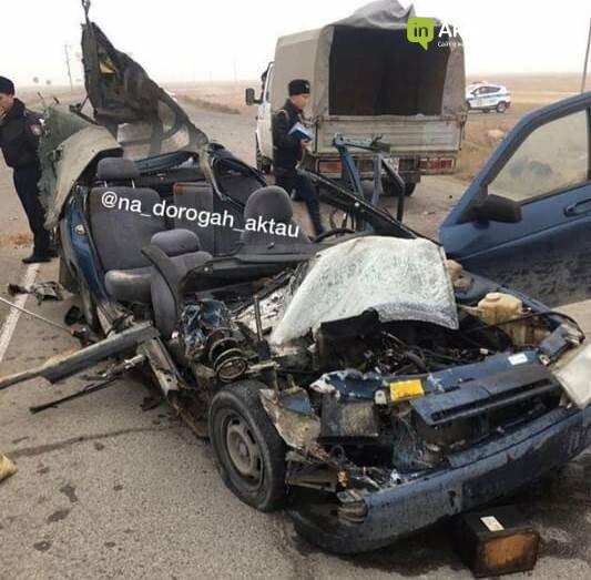 """На трассе """"Жанаозен - Кызылсай"""" в ДТП погибли трое парней, фото-1"""