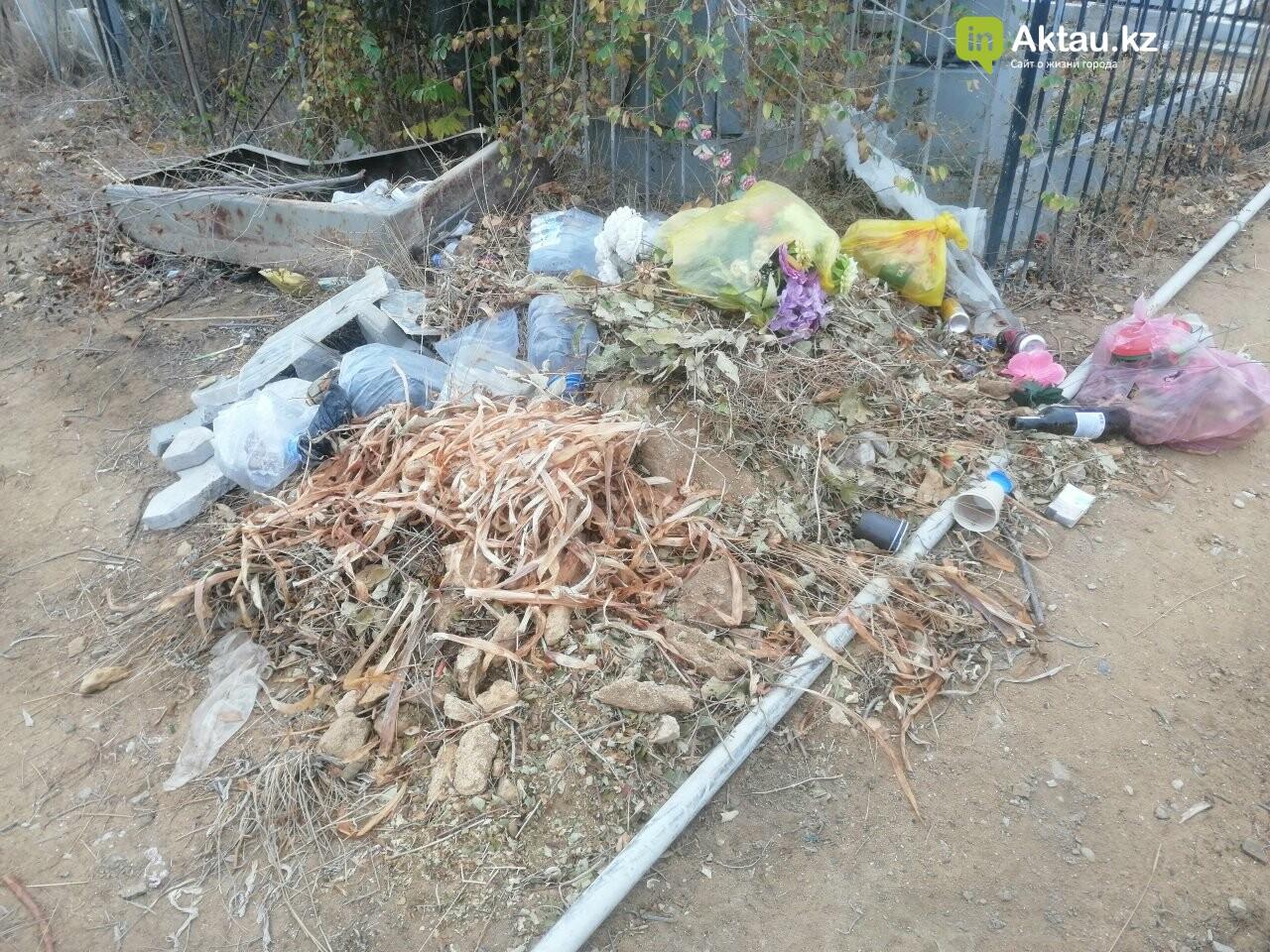 Жители Актау пожаловались на мусор на православном кладбище , фото-3