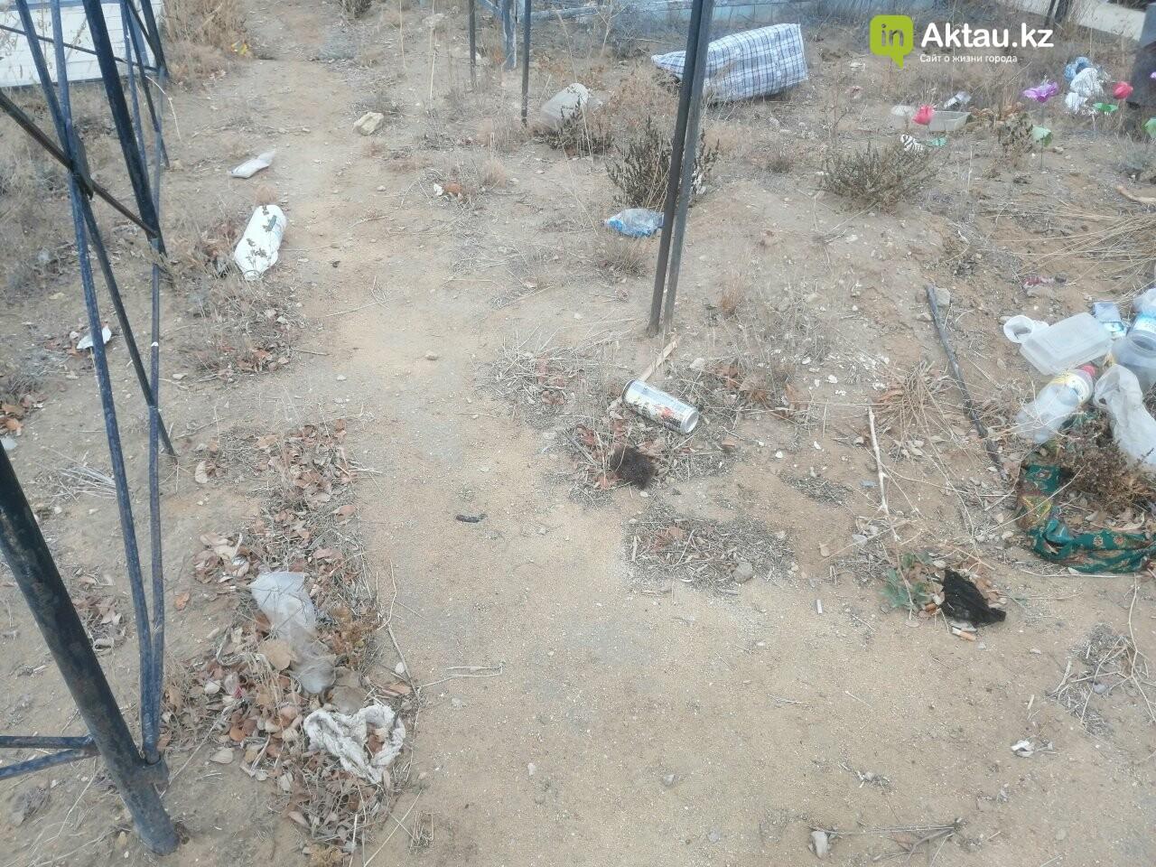 Жители Актау пожаловались на мусор на православном кладбище , фото-2