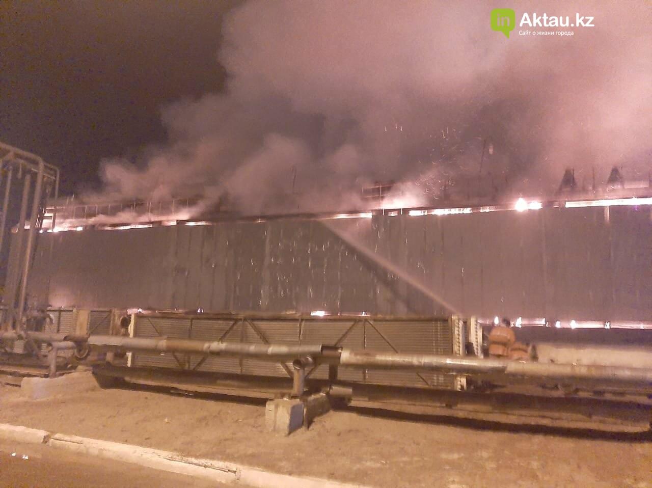 Крупный ночной пожар произошел на заводе, который перерабатывает газ, в Жанаозене 1
