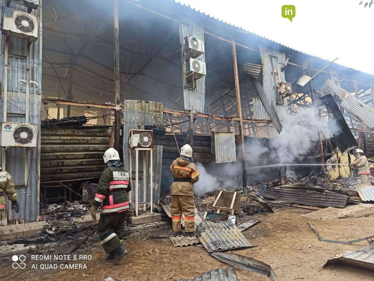 Сгоревшее общежитие, акимат МО