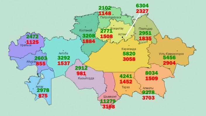 Какой из регионов Казахстана лидирует по количеству разводов, фото-1