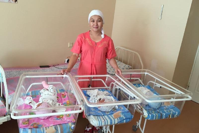 Жительница города Жанаозен родила тройню, фото-1