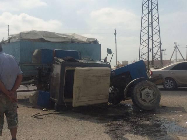 Полиция Актау сообщила о подробностях аварии с трактором, фото-3