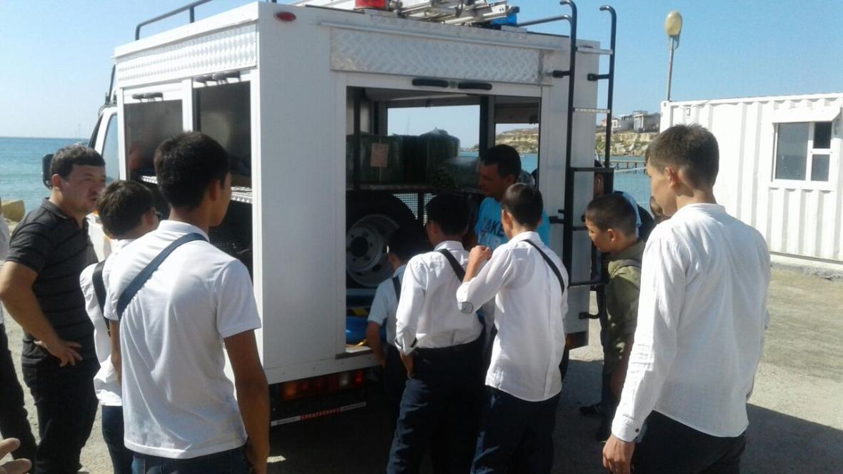 Спасатели Мангистау провели День открытых дверей для студентов (Фото), фото-2
