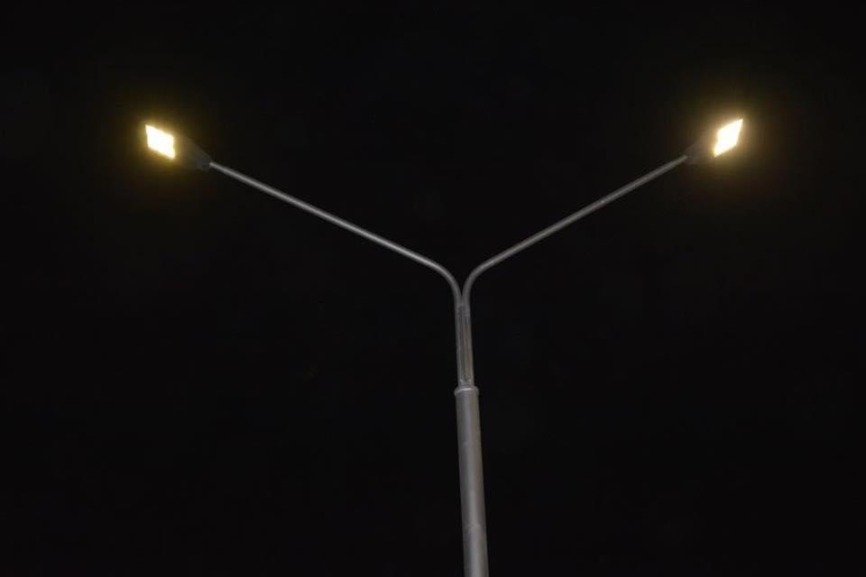 В одном из микрорайонов Актау на уличных фонарях установлены светодиодные лампы, фото-2
