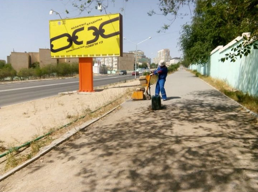 В четырех нижних микрорайонах Актау начался ремонт дорог (ФОТО), фото-1