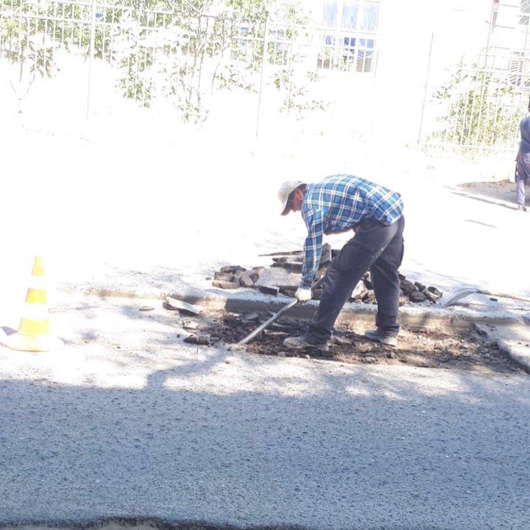 В четырех нижних микрорайонах Актау начался ремонт дорог (ФОТО), фото-2