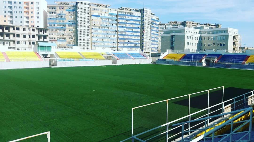 """В Актау инвесторы продлили срок замены газона на стадионе """"Жас Канат"""" (ФОТО), фото-1"""