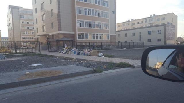 Актау утопает в мусоре и отходах по вине арбузов (ФОТО), фото-2