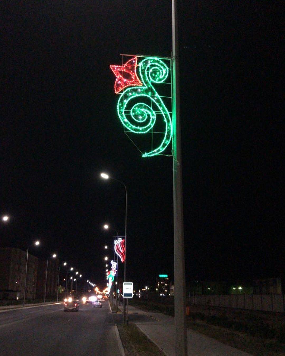 В Актау устанавливают декоративное освещение (ФОТО), фото-3