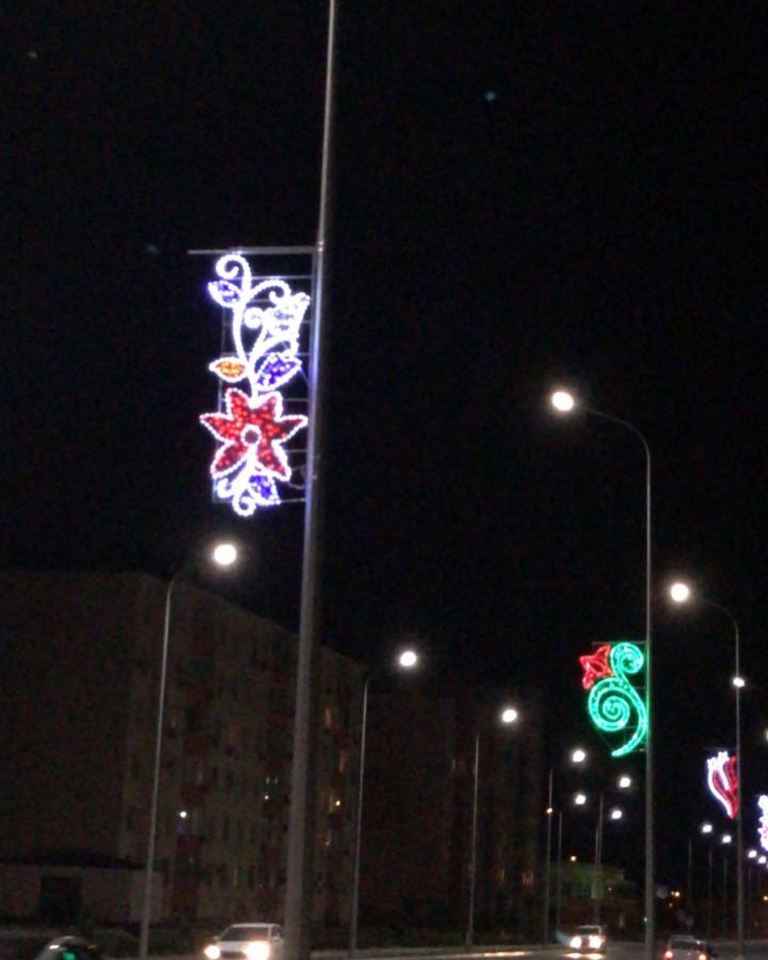 В Актау устанавливают декоративное освещение (ФОТО), фото-2