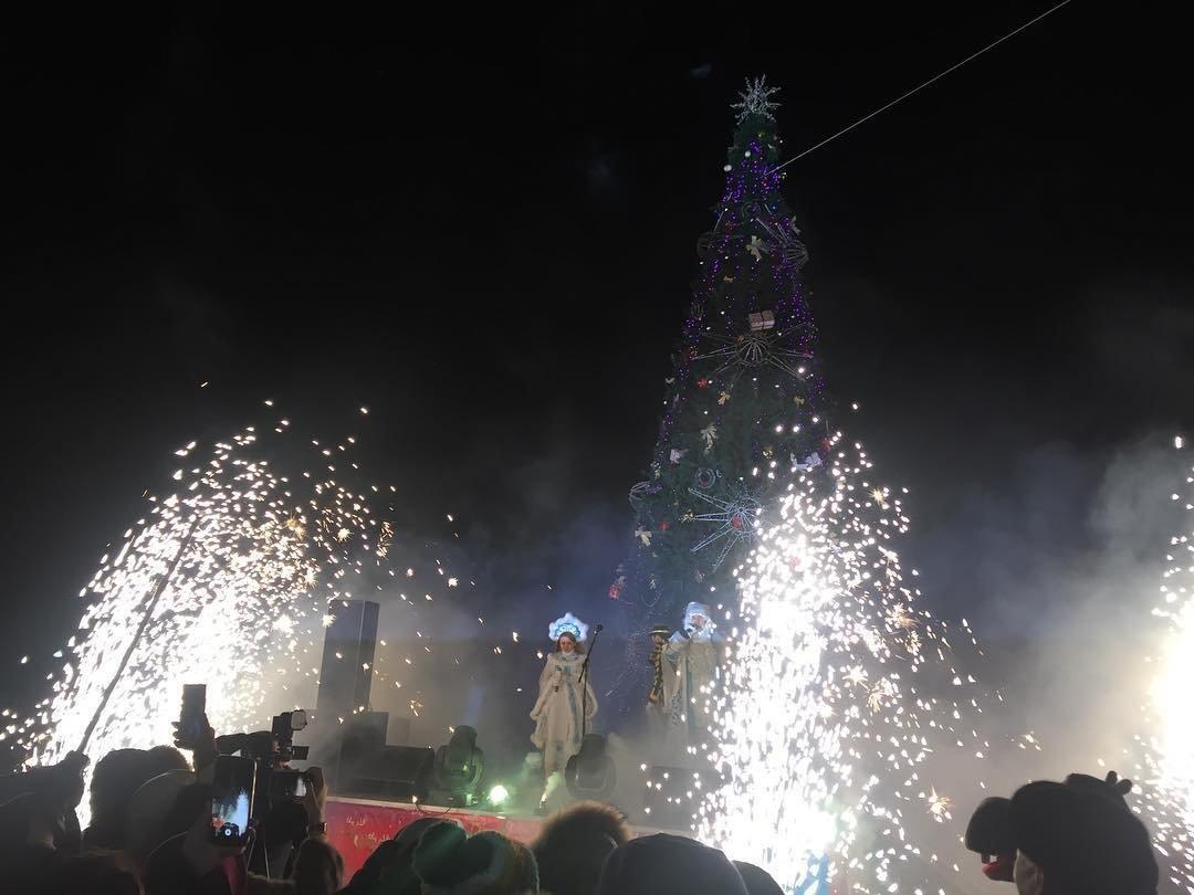В Актау зажгли главную новогоднюю елку, фото-3
