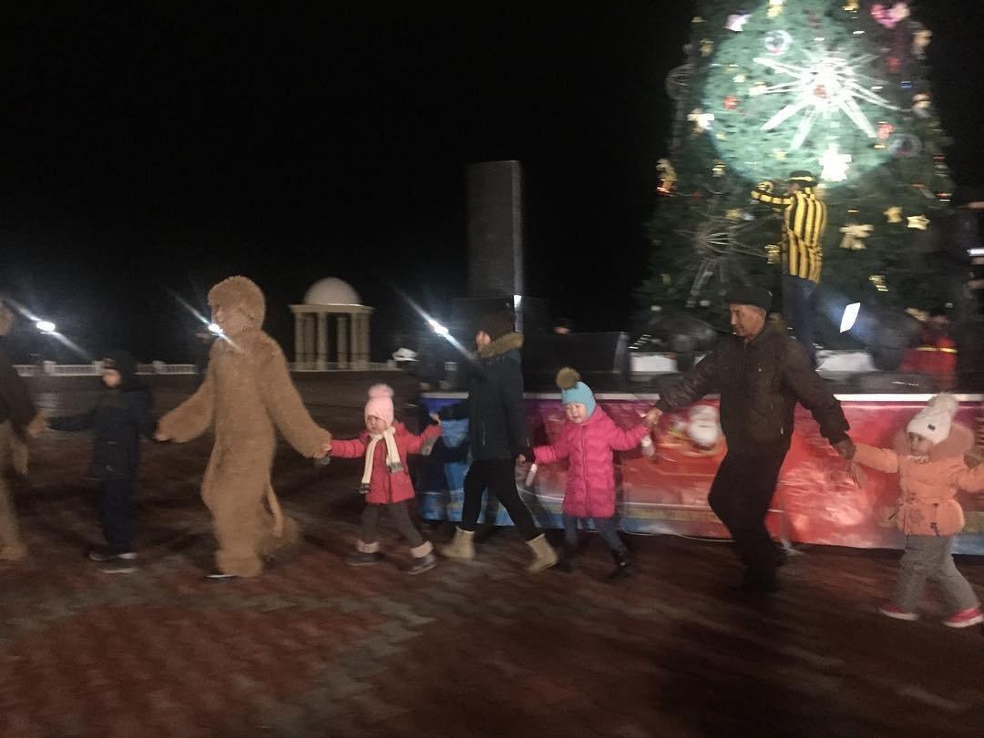 В Актау зажгли главную новогоднюю елку, фото-1