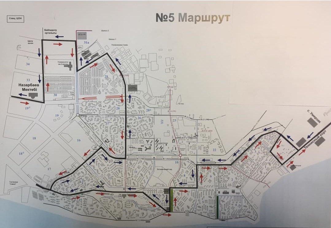 Изменилась схема движения автобусного маршрута Актау, фото-1