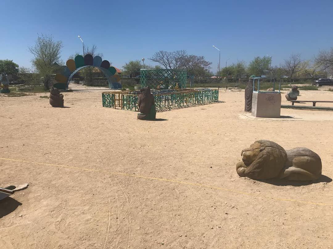 Детскую площадку за счет депутата установили в Актау, фото-6