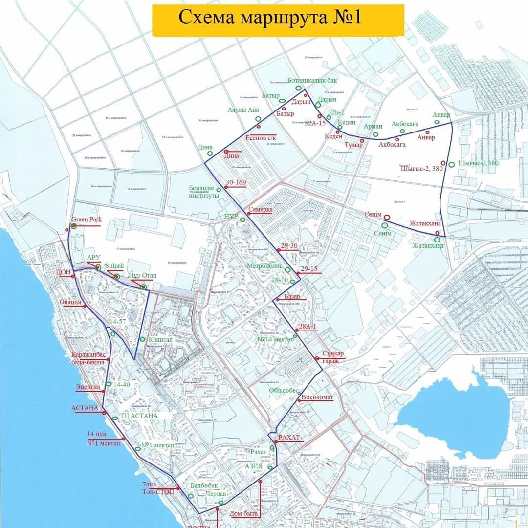 В Актау в тестовом режиме запустили новый автобусный маршрут, фото-1