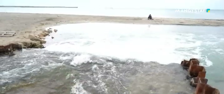 Грязная вода на водосбросе Актау: экологи нашли виноватых, фото-2