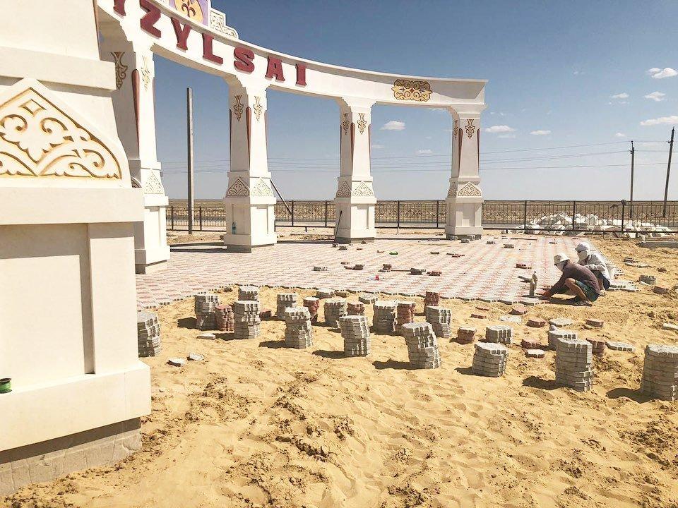 Новая арка появилась на въезде в село Кызылсай, фото-1