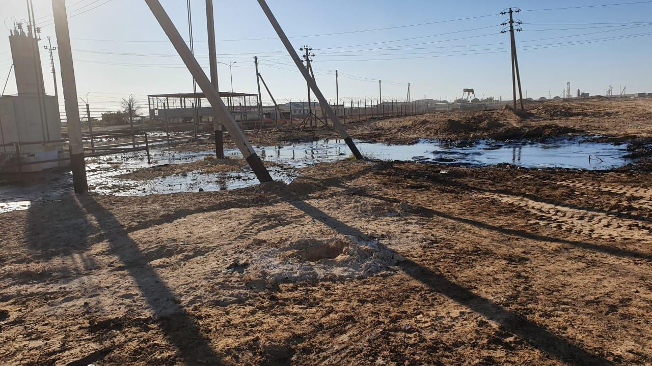 """Порыв нефтепровода произошел на месторождении """"Жетыбай"""", фото-11"""