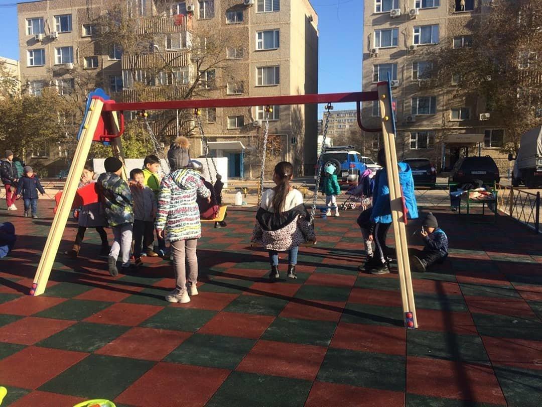 Три новые детские площадки построили в Актау , фото-3