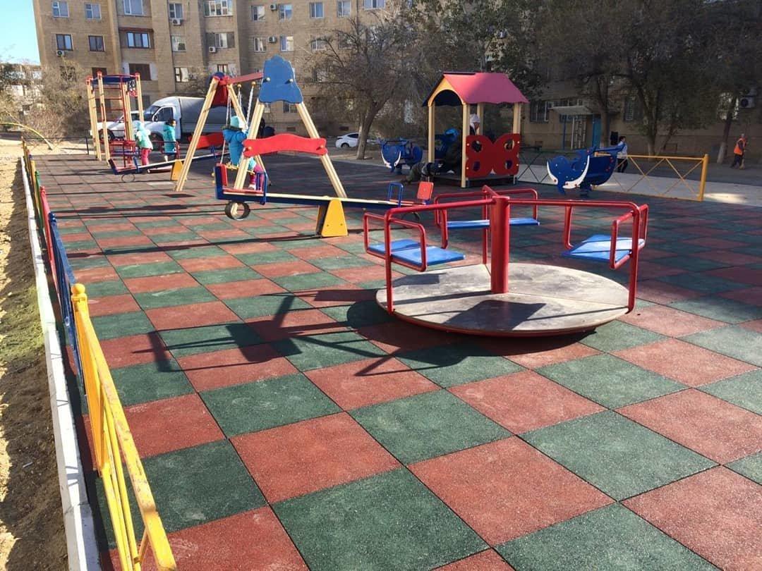 Три новые детские площадки построили в Актау , фото-4