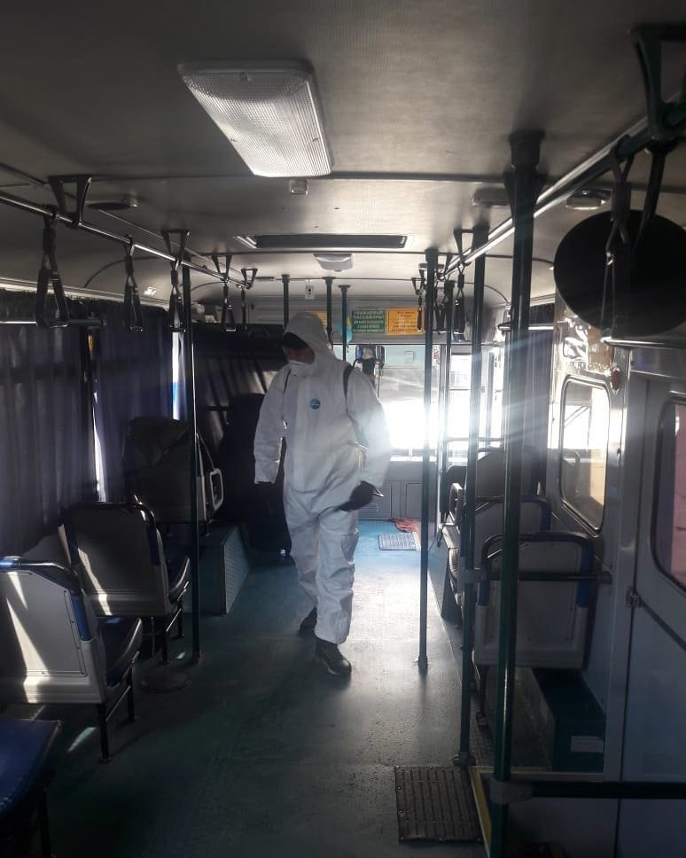 В Актау автобусы после каждого рейса будут дезинфицировать, фото-1